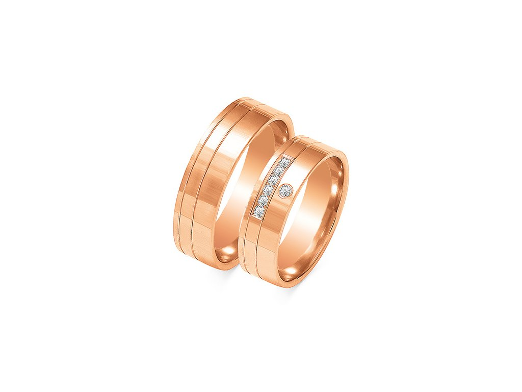 7f0204acc Svadobné obrúčky model OE-217 z ružového zlata +doživotný servis + ...