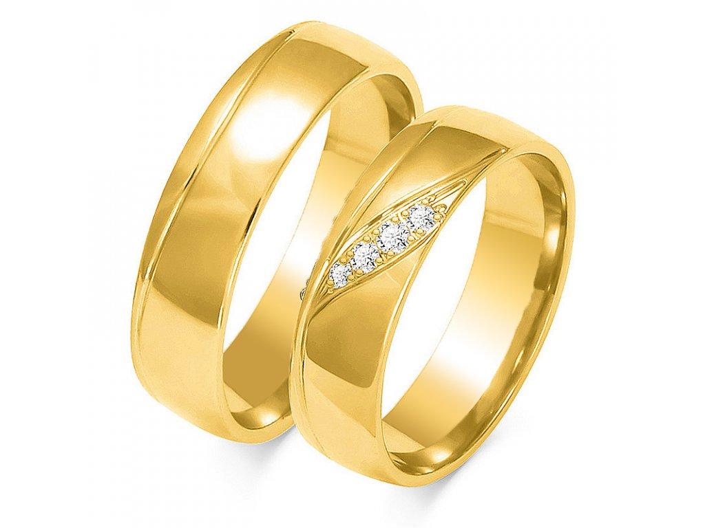 Obrúčky OE-207  žlté zlato