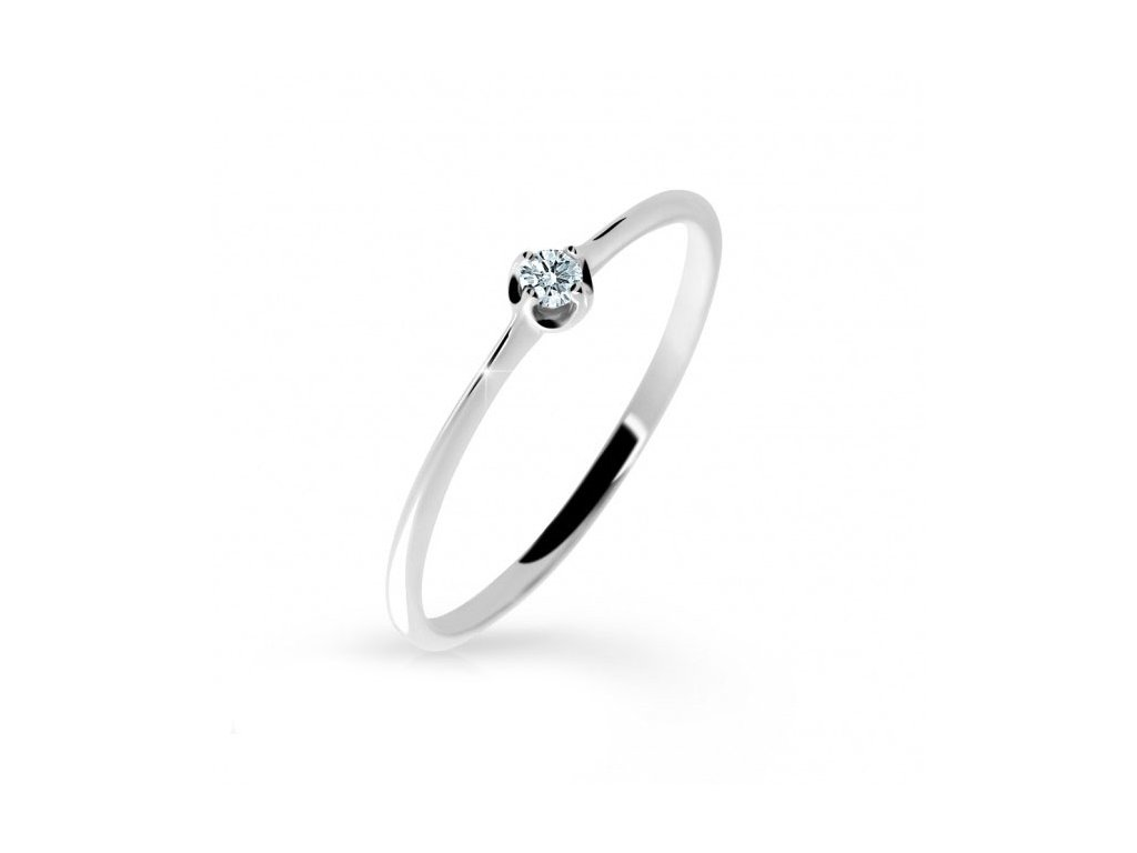 zásnubný prsteň 2931 biele zlato