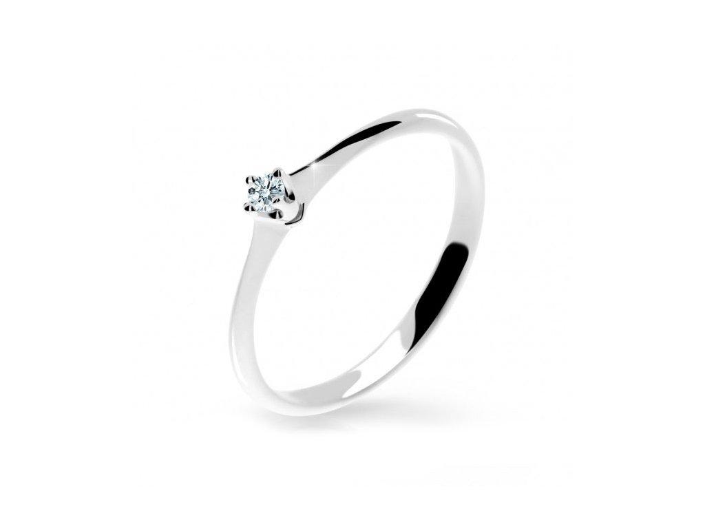 Brilinatový prsteň Danfil 2940 biele zlato