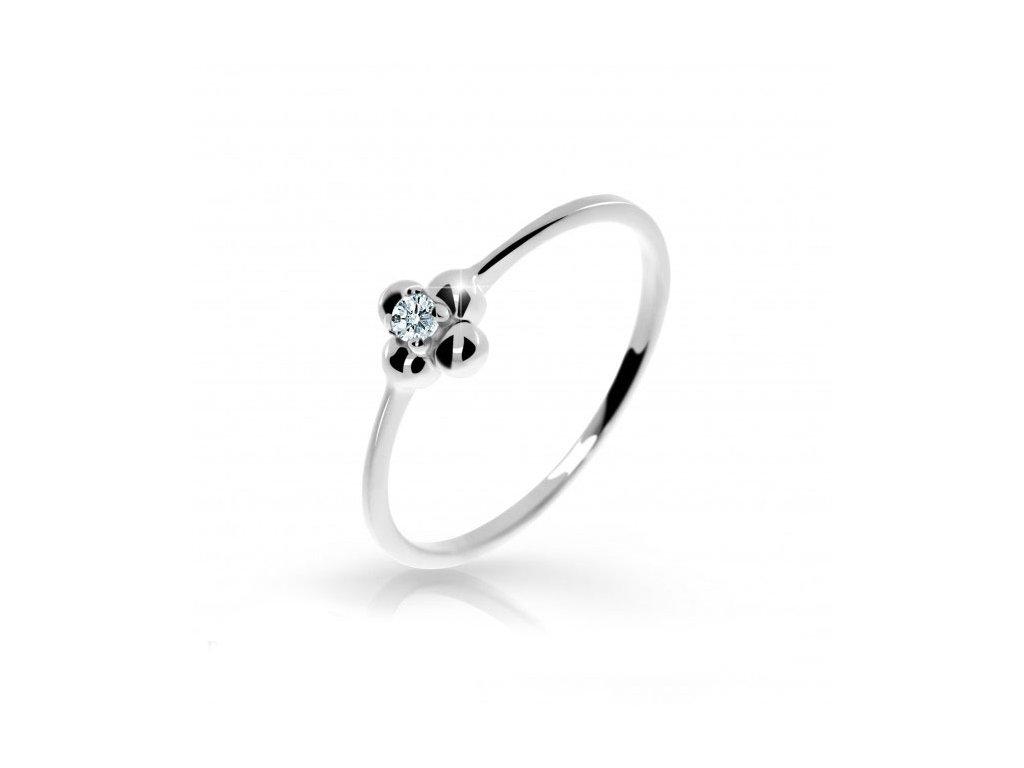 Brilinatový prsteň Danfil 2932 biele zlato
