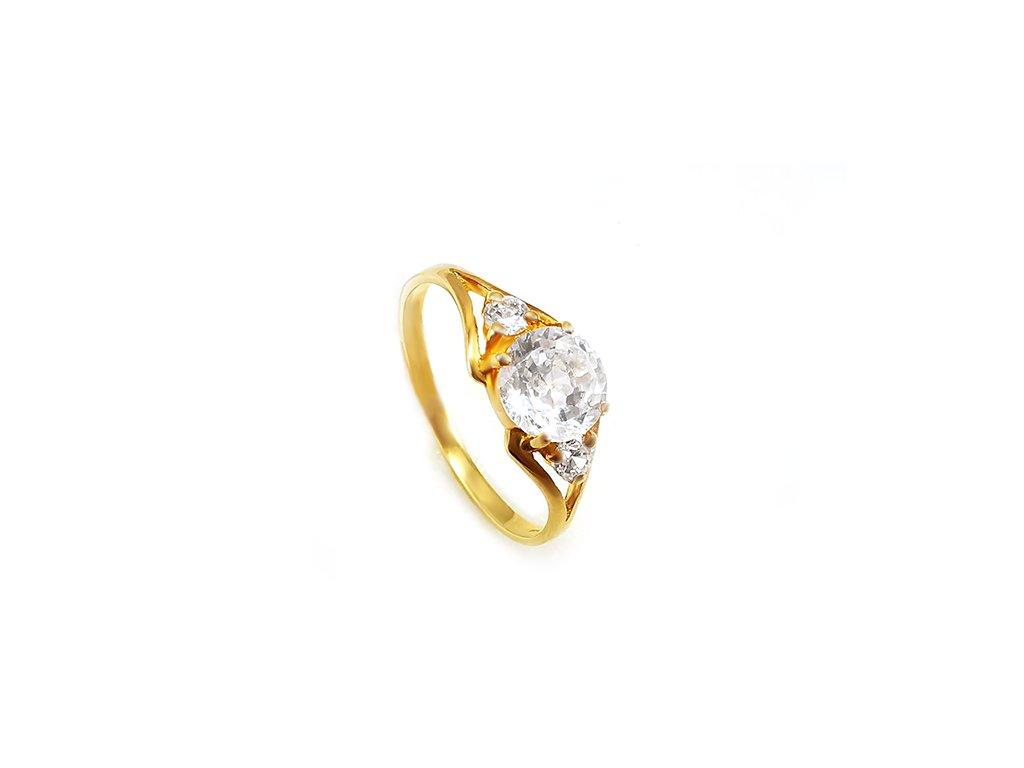 Dámsky prsteň VZOR 52 väčší zo žltého zlata
