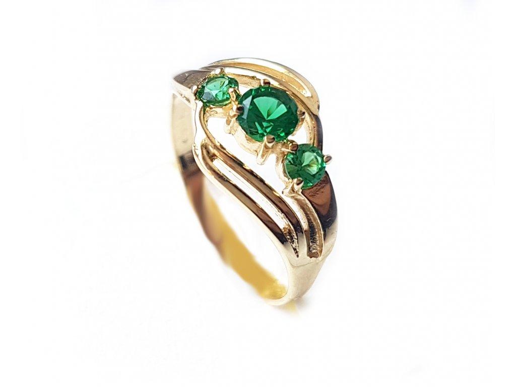 Dámsky prsteň P49 zo žltého zlata