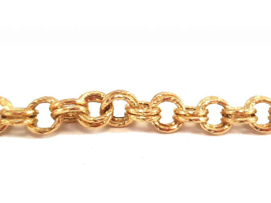 Dámsky náramok zo žltého zlata
