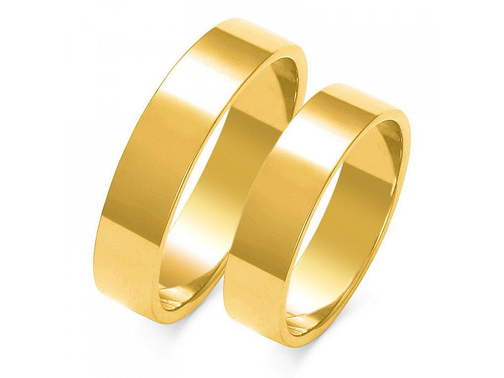 Obrúčky A-113 žlté zlato