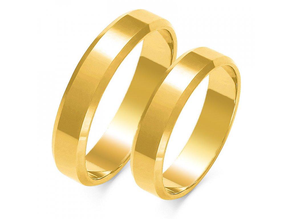 Obrúčky A-116 žlté zlato