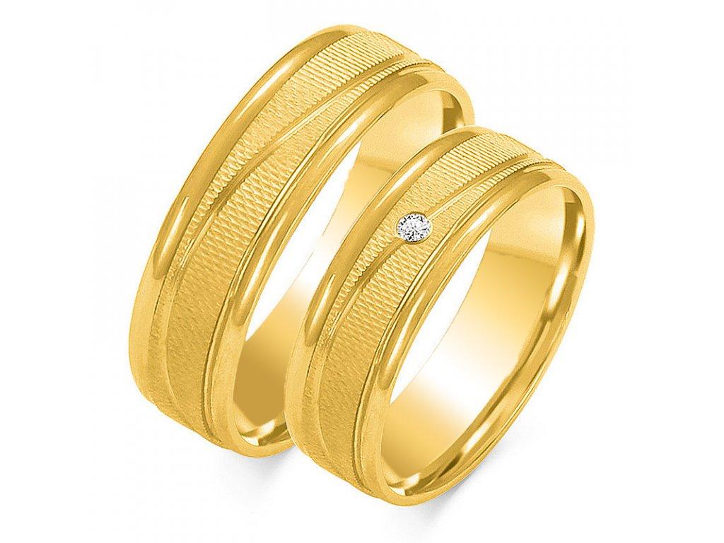 Svadobné obrúčky model OE-189 žlté zlato