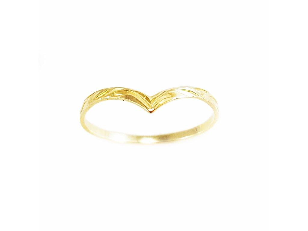 Zlatý prsteň VZOR 0 žltý  +doživotný servis + krabička