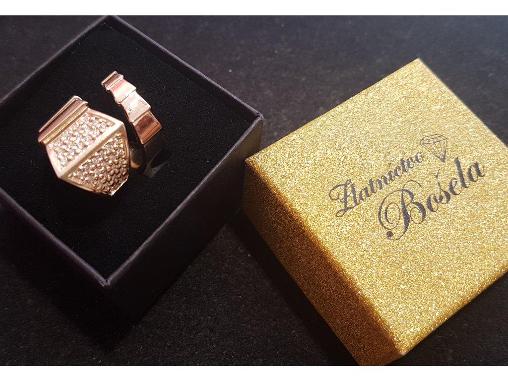 Dámsky prsteň v tvare hada zo žltého zlata so zikónmi  + doživotný servis # GIFTS # krabička