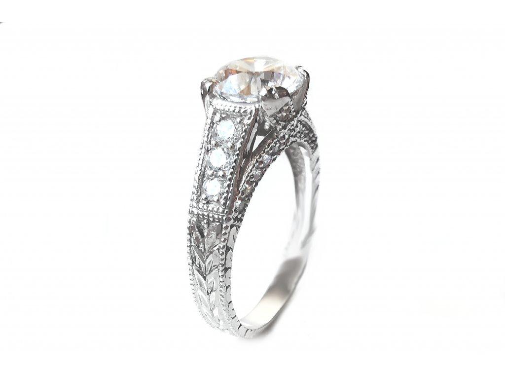 Zlatý prsteň VZOR 264 biely  +servis + krabička