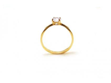 Jemný a elegantný dámsky prsteň zo žltého zlata  +servis + krabička