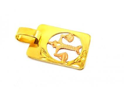Zlatý prívesok znamenie VÁHY  +servis + krabička