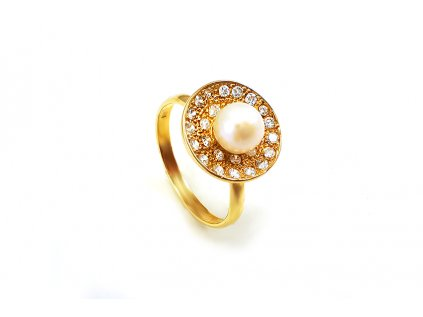 Zlatý prsteň PERLA žltý  +servis + krabička