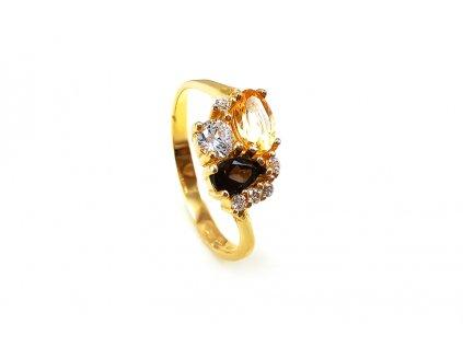 Zlatý prsteň JESEŇ viacfarebný  +servis + krabička