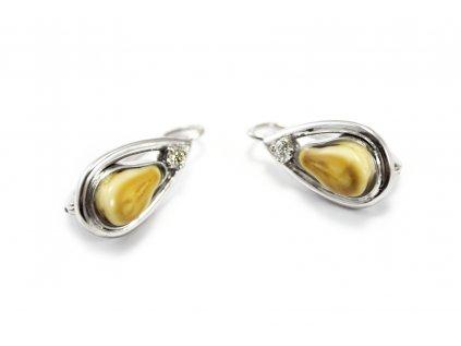 Nadčasové a výnimočné náušnice GRANDLE z bieleho zlata