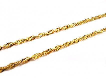 "Nádherná retiazka ""LAMBADA"" zo žltého zlata  +servis + krabička, darček"