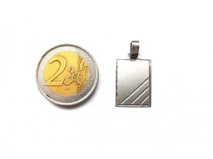 Dizajnový prívesok Platnička z bieleho zlata  +servis + krabička