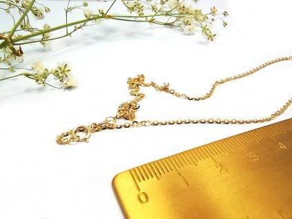 """Jemná retiazka """"ANKER OKRÚHLY"""" zo žltého zlata  +servis + krabička, darček"""