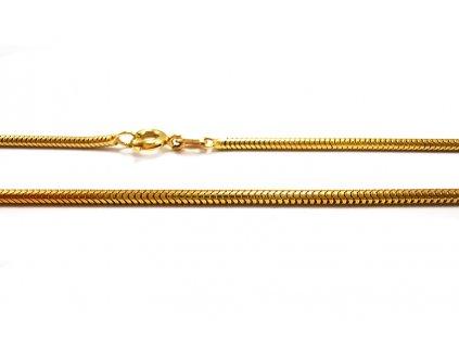 """Retiazka vzor """"hadík okrúhly"""" zo žltého zlata  +servis + krabička, darček"""