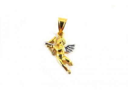 """Nádherný prívesok """"KUPID"""" zo14 karátového zlata  + servis # GIFTS # krabička"""