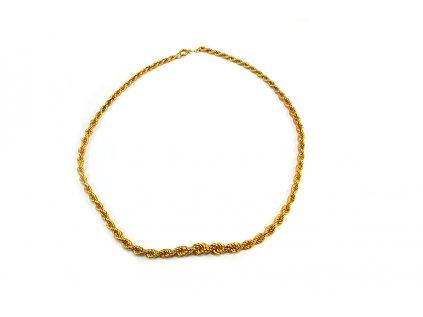 "Nárhdelník vzor ""VALIS"" zo žltého zlata  + servis + krabička, darček"