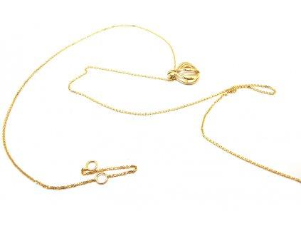 Jemná retiazka s príveskom zo žltého zlata