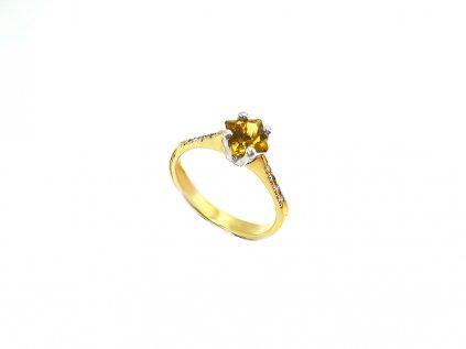 Nádherný prsteň s pravým turmalínom a briliantmi  +servis + krabička, darček