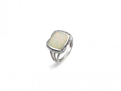 Strieborný prsteň s opálom  + servis # GIFTS # krabička
