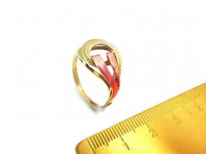 Dámsky prsteň zo žlto-ružového zlata  + krabička a darček