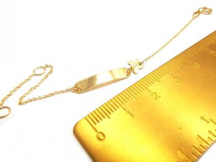 Detský náramok zo žltého 14 karátového zlata  +servis