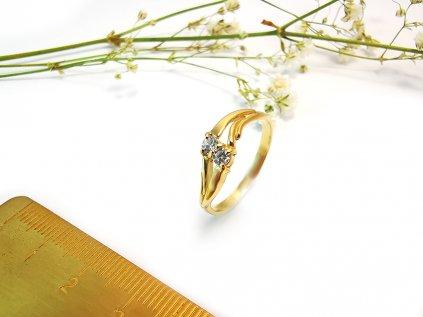 Dámsky prsteň VZOR47 zo žltého zlata  +servis + krabička + darček