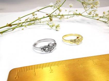 Prsteň VZOR23 zo žltého zlata  + krabička a darček