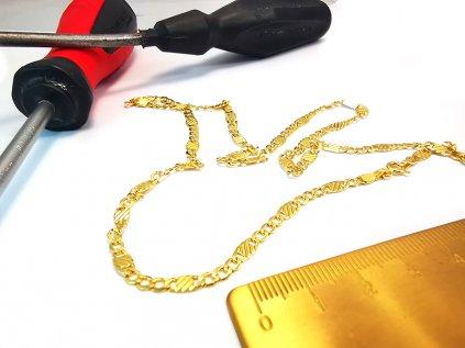 Článkovaná retiazka zo žltého zlata  + servis a krabička, darček