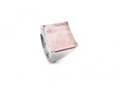 Dámsky prsteň s pravým ruženínom  +doživotný servis a krabička a darček
