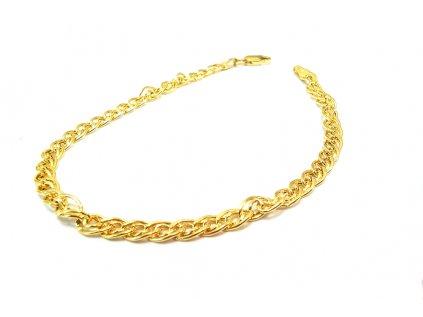 Nádherný náramok zo žltého zlata