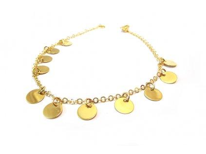 Prekrásny trblietavý náramok zo žltého zlata  + servis a krabička, darček