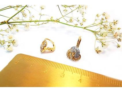 Zirkónové náušnice pleteničky  + servis a krabička, darček