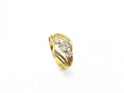 Dámsky prsteň P49 s bielymi kameňmi  + servis a krabička, darček