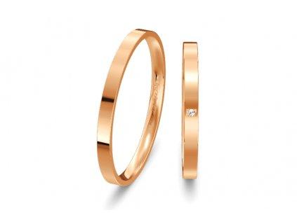 Svadobné obrúčky ploché 2mm z ružového zlata