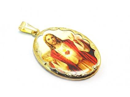 Zlatý prívesok s Ježišom  + servis a krabička, darček