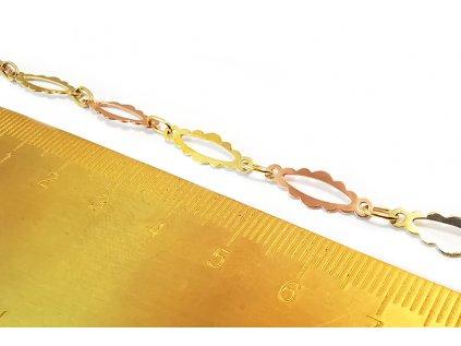 Náramok z kombinovaného žlto-ružového zlata
