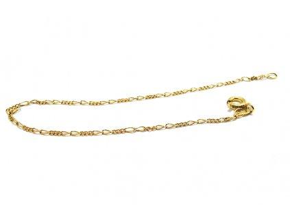 Náramok figaro 3+2 zo žltého zlata  + krabička a darček