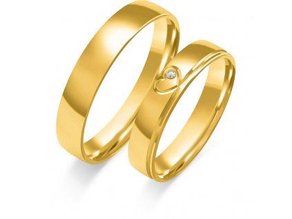 Svadobné obrúčky O-368 zo žltého zlata