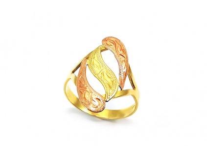 Prsteň VZOR  z kombinovaného ružovo-žltého zlata