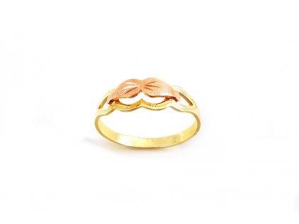 Zlatý prsteň VZOR 14 z kombinovaného ružovo-žltého zlata