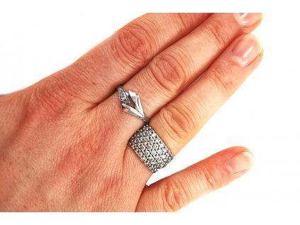 Dámsky prsteň VZOR 16 z bieleho zlata