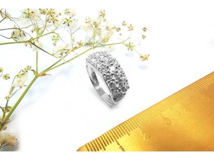 Nádherný prsteň VZOR 33 z bieleho zlata