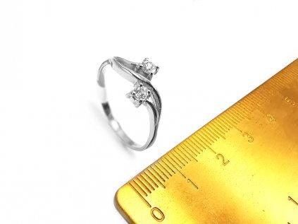 Dámsky prsteň VZOR48 z bieleho zlata  +servis + krabička