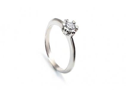 Zásnubný prsteň VZOR 303 z bieleho zlata