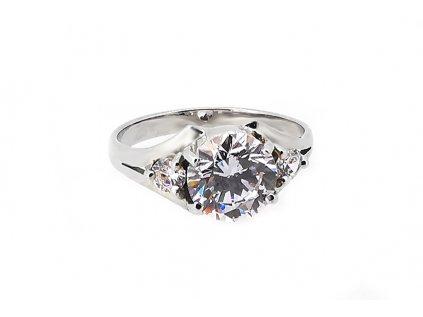 Dámsky prsteň VZOR 52 väčší z bieleho zlata